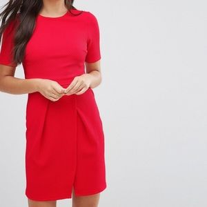 ASOS Dresses - Asos Double Layer Red Wiggle Mini Dress